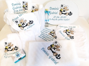Trusou botez personalizat complet Teddy Bear Matelot [2]