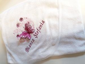 Trusou botez personalizat complet Butterfly Burgundy [1]