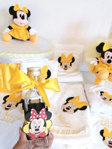 Trusou botez personalizat Yellow Minnie [3]