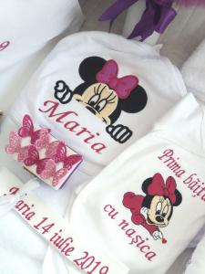 Trusou botez personalizat, Minnie Mouse violet [2]