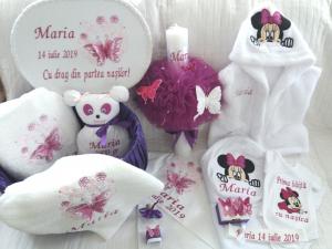 Trusou botez personalizat, Minnie Mouse violet [6]