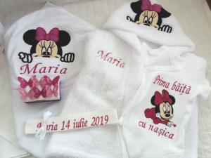 Trusou botez personalizat, Minnie Mouse violet [1]
