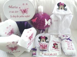Trusou botez personalizat, Minnie Mouse violet [0]