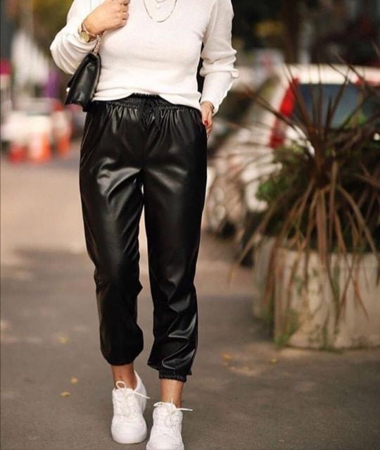 Pantaloni Eco Piele Julia Black 1