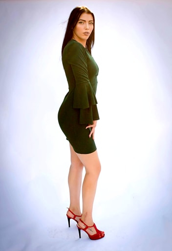 Rochie Eleny Green 1