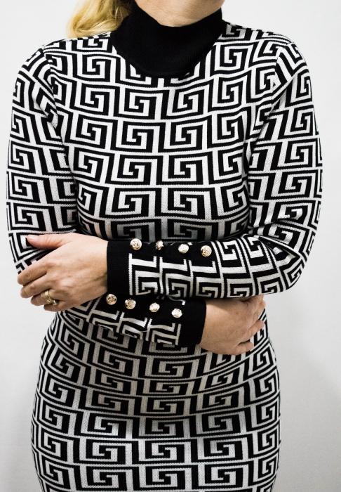 Rochie Selena Black&White 1