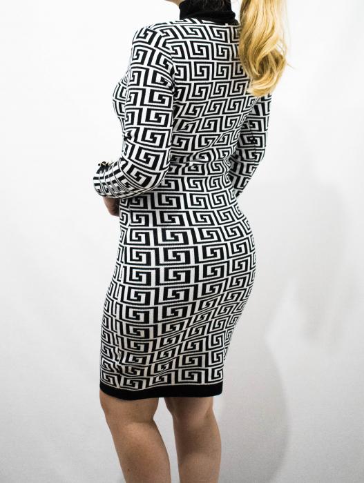 Rochie Selena Black&White 3