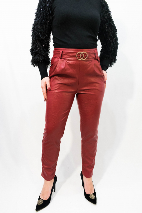 Pantaloni Eco Piele Jessica 0