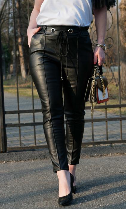 Pantaloni Eco Piele Emma Black 0