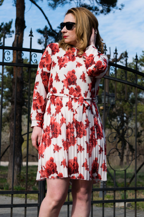 Rochie Red Flowers 1