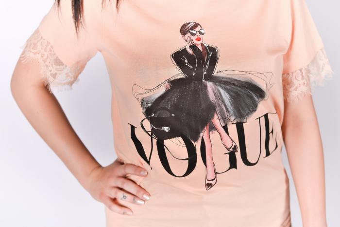 Tricou Vogue cu dantela 2