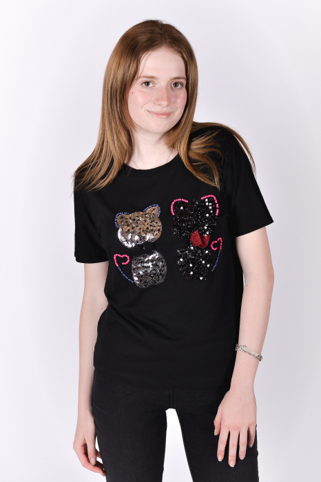 Tricou Sparkle Cats 0