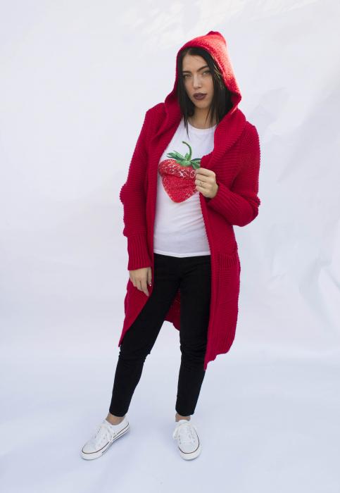 Cardigan Yvona Red 3