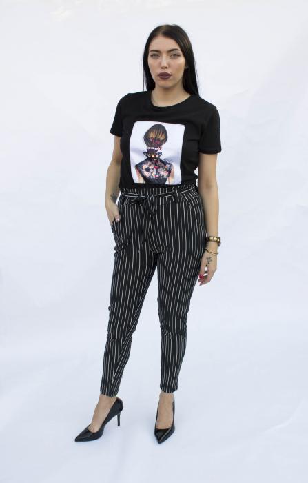Pantaloni negri cu dungi 1