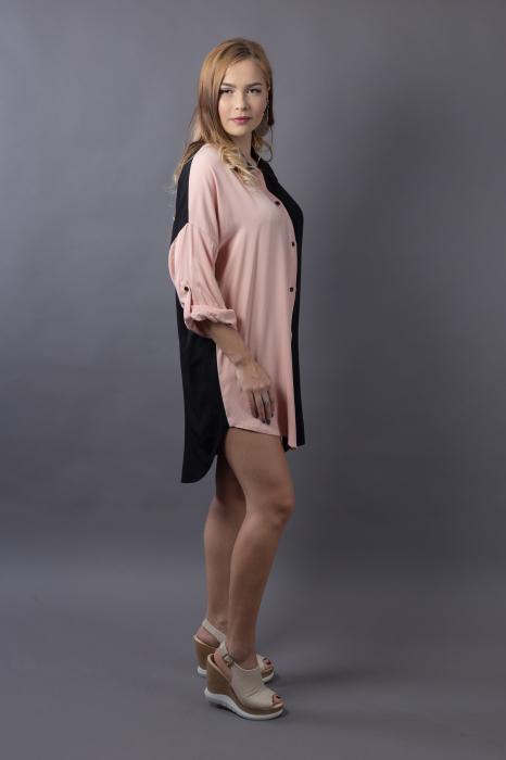 Rochie oversize Black/Nude 2