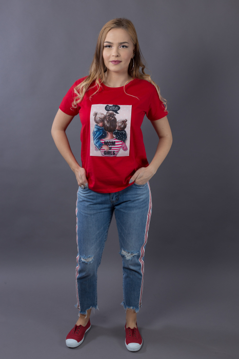 Tricou 3D Mom of Girls 1