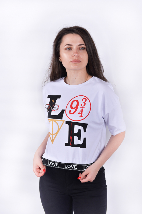 Tricou White Love 2