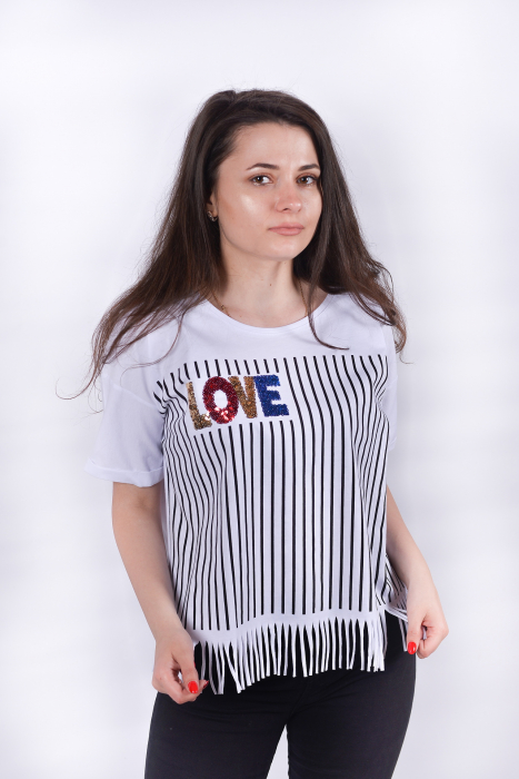Tricou Love Stripes 1