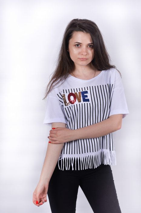 Tricou Love Stripes 0