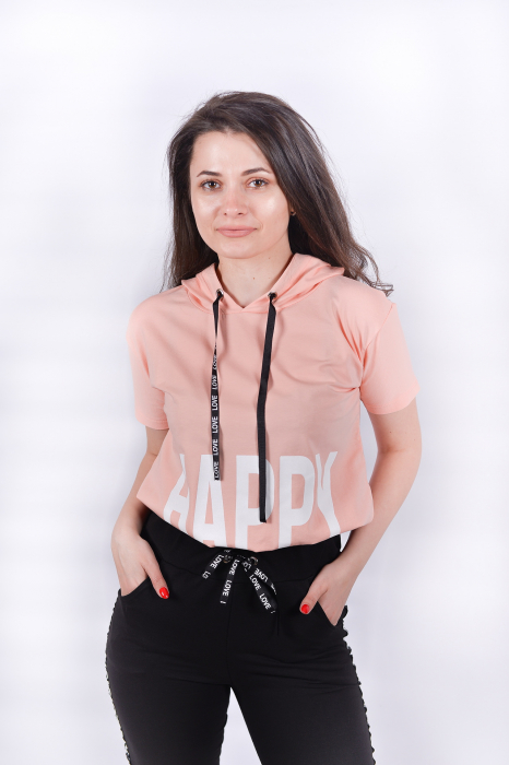 Tricou Happy Pink 0