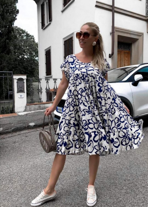 Rochie Blue Flowers 0