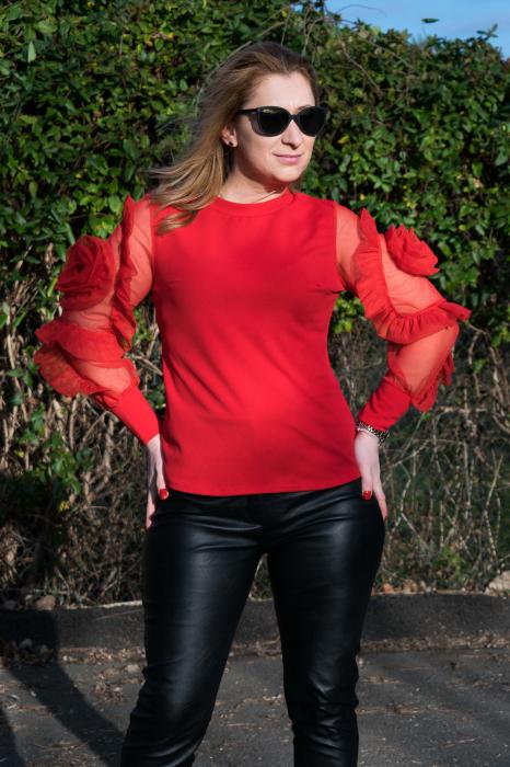 Bluza Dhalia Red 1