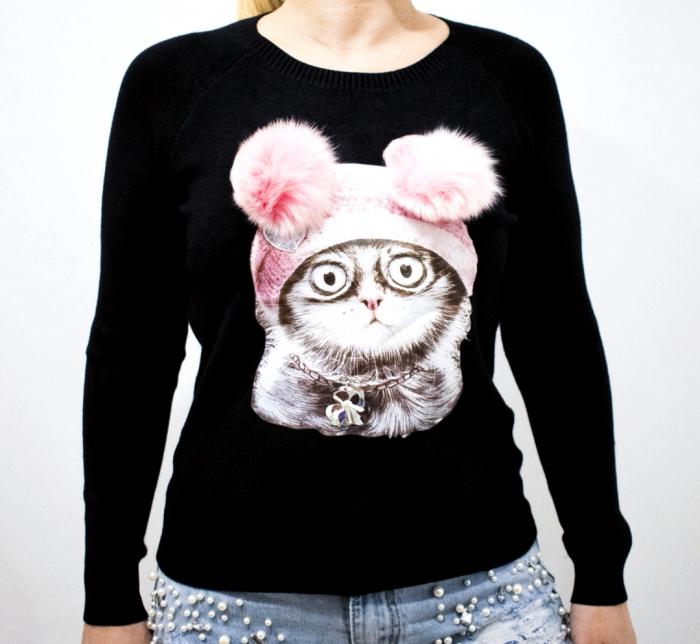 Bluza Kitty Black [0]