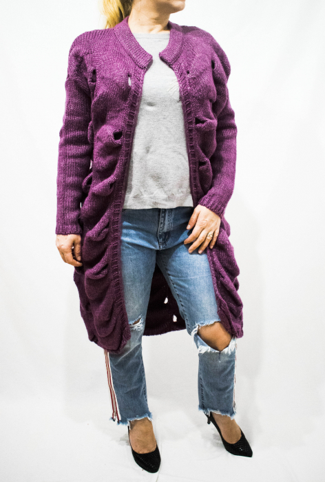 Cardigan Emma Purple 1