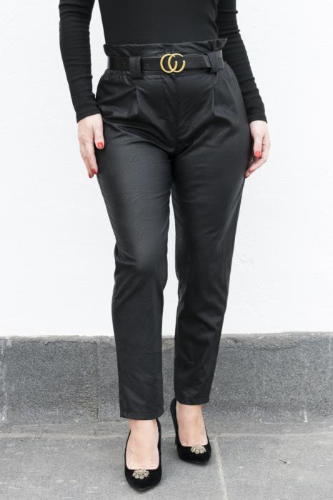 Pantaloni Eco Piele Vera Black 0