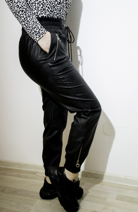 Pantaloni Eco Piele Erika Black 0