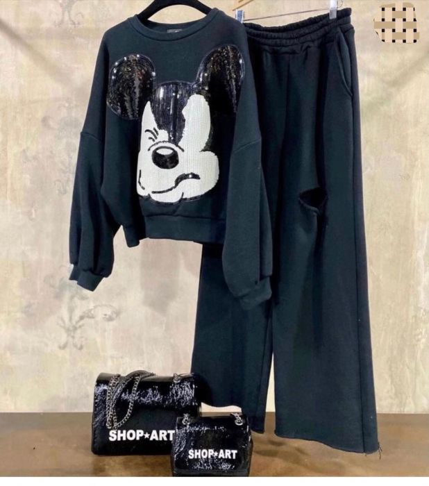 Compleu Mickey Black 0