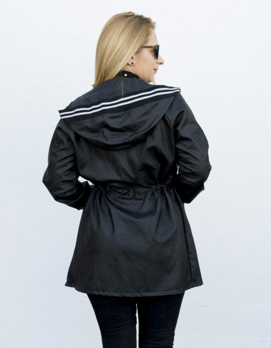 Jacheta Eco Piele Karin Black 2