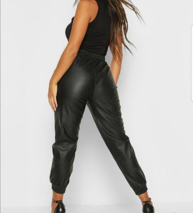 Pantaloni Eco Piele Cindy Black 1