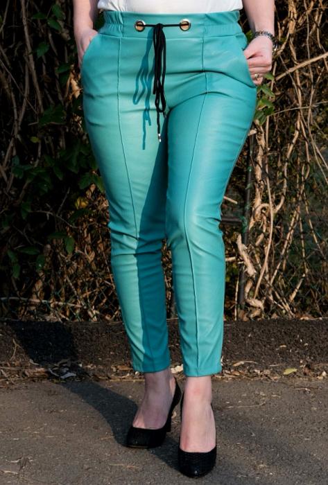 Pantaloni Eco Piele Emma Blue [1]