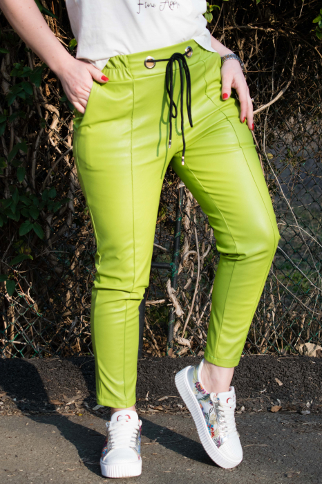 Pantaloni Eco Piele Emma Green 2