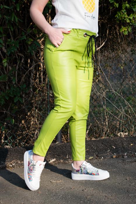 Pantaloni Eco Piele Emma Green 0