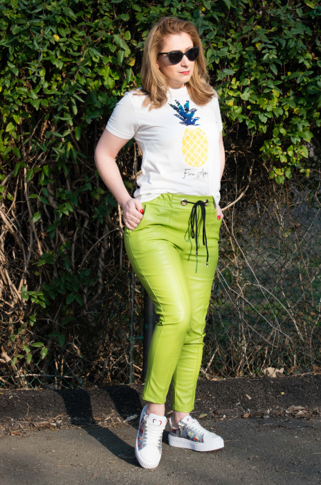 Pantaloni Eco Piele Emma Green 3