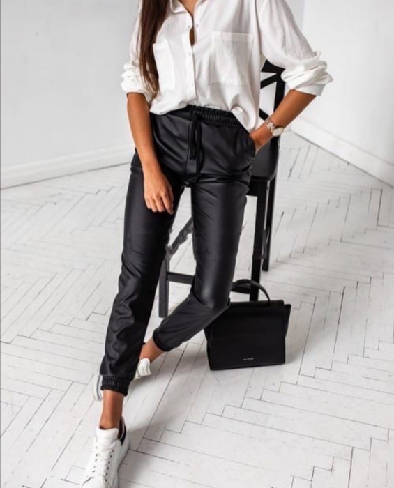 Pantaloni Eco Piele Julia Black 0