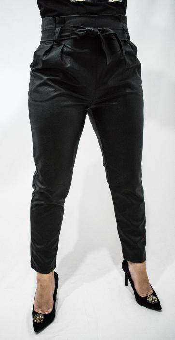 Pantaloni Eco Piele Sandra Black 1