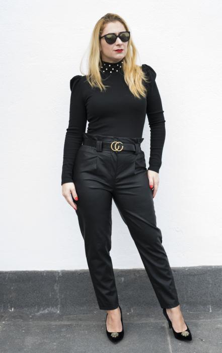 Pantaloni Eco Piele Vera Black 1