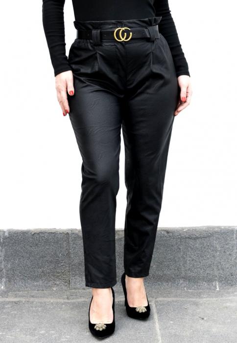 Pantaloni Eco Piele Vera Black [0]