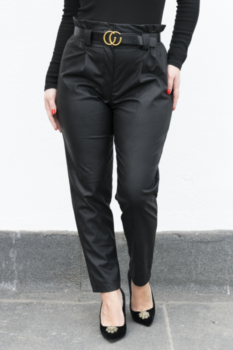 Pantaloni Eco Piele Vera Black 2