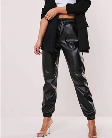 Pantaloni Sport Eco Piele Cindy 1