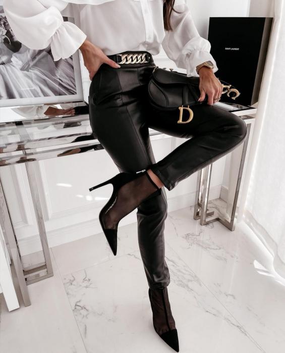 Pantaloni Eco Piele Gloria Black [0]