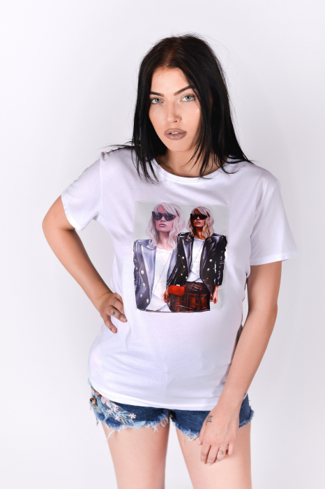 Tricou 3D Cool Girl White 3