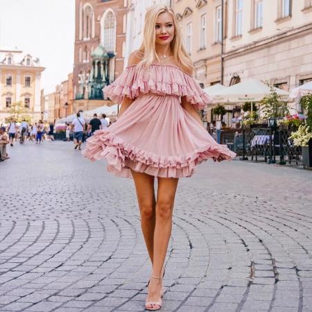 Rochie Misha Sweet Pink0