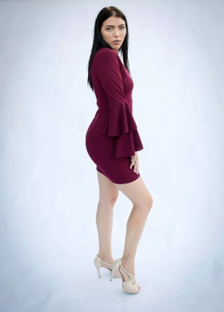 Rochie Eleny Bordo2