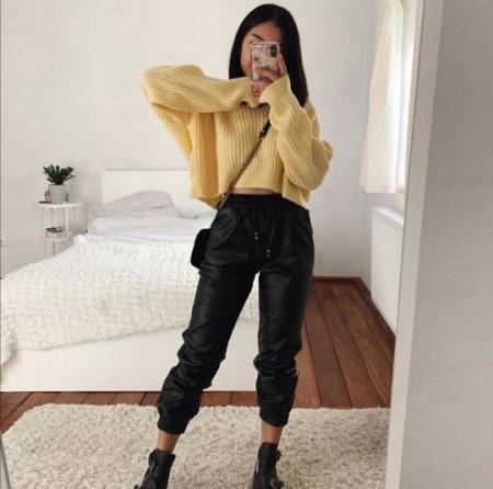 Pantaloni Eco Piele Cindy Black1