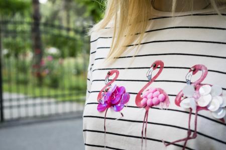 Tricou Flamingo Stripes5