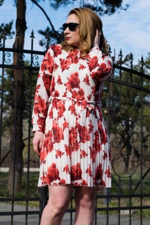 Rochie Red Flowers1